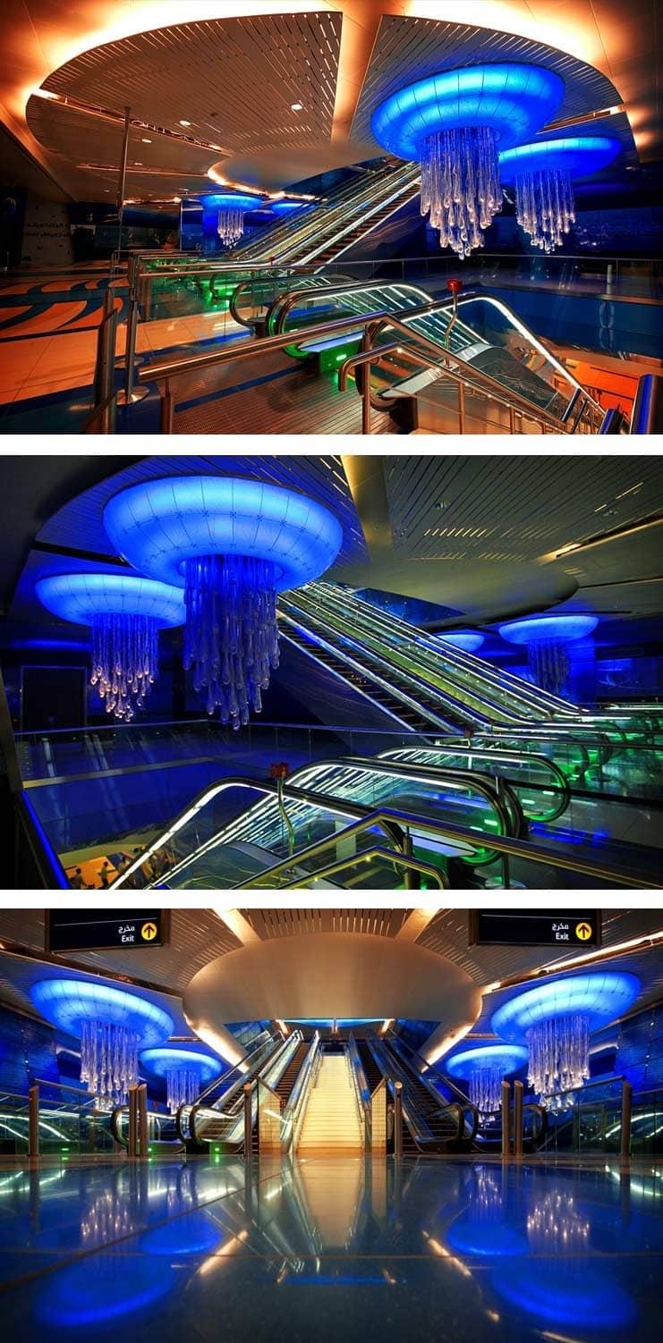 Дубайская станция метро