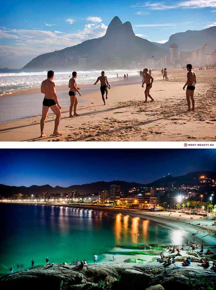 Пляж Ипанема. Самый красивый пляж