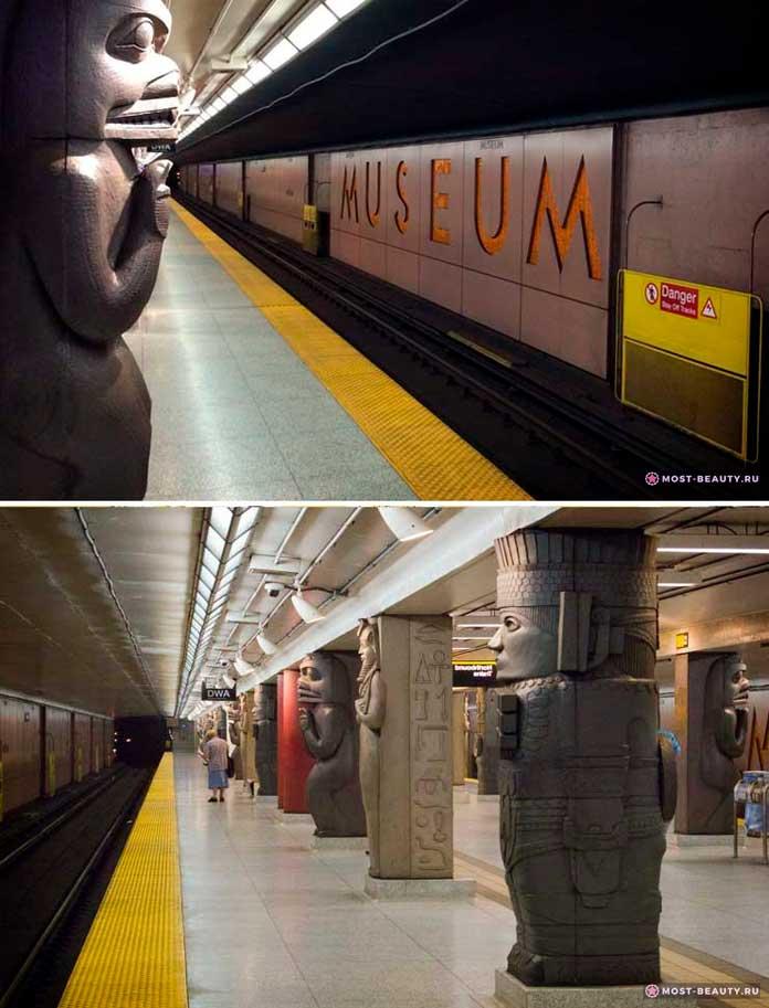 На фото: станция Royal Ontario Museum