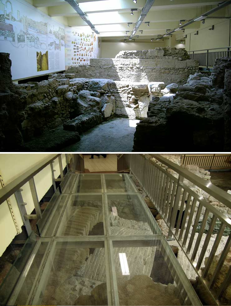 На фото: Метро-музей. Станция Monastiraki в Афинах