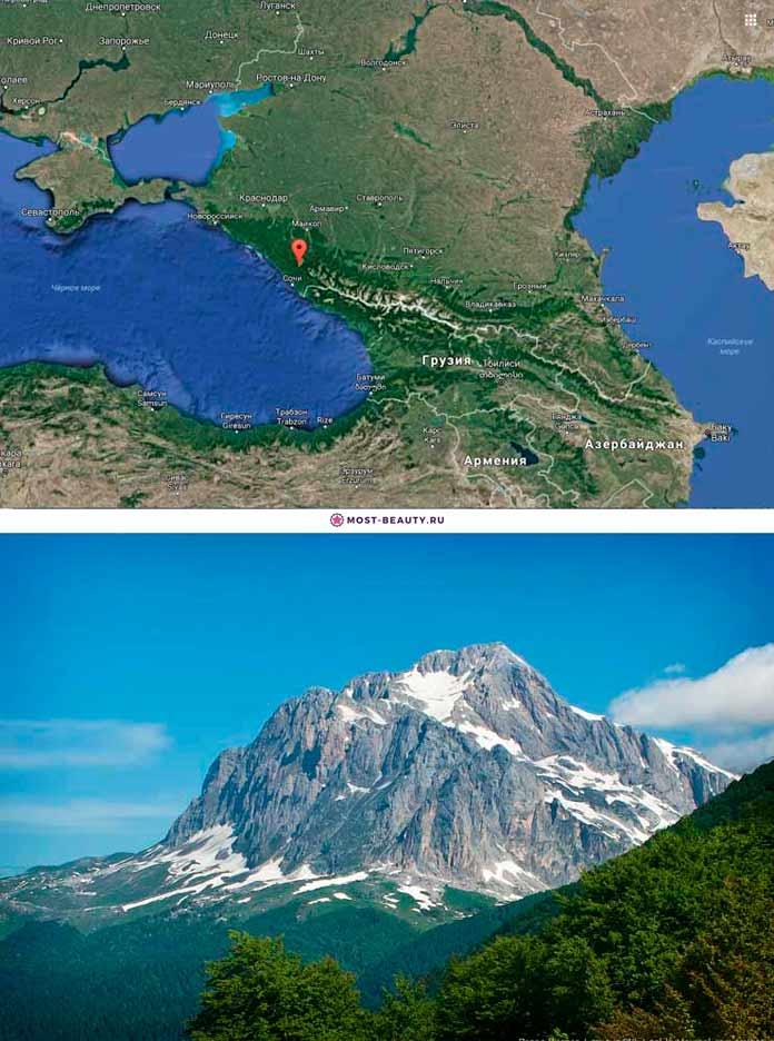 Гора Фишт на карте