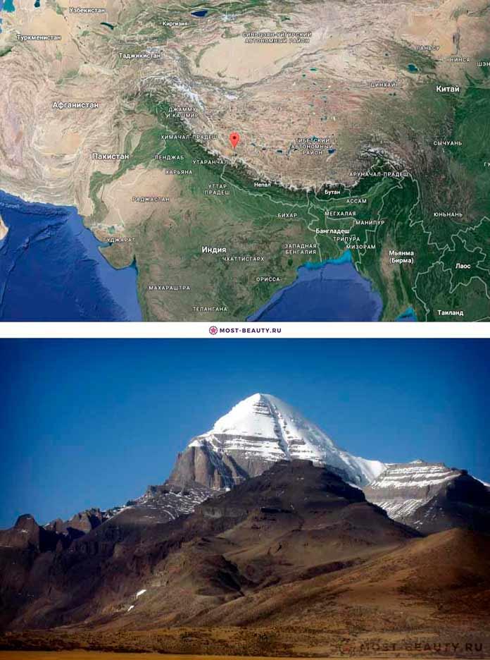 Гора Кайлас на карте