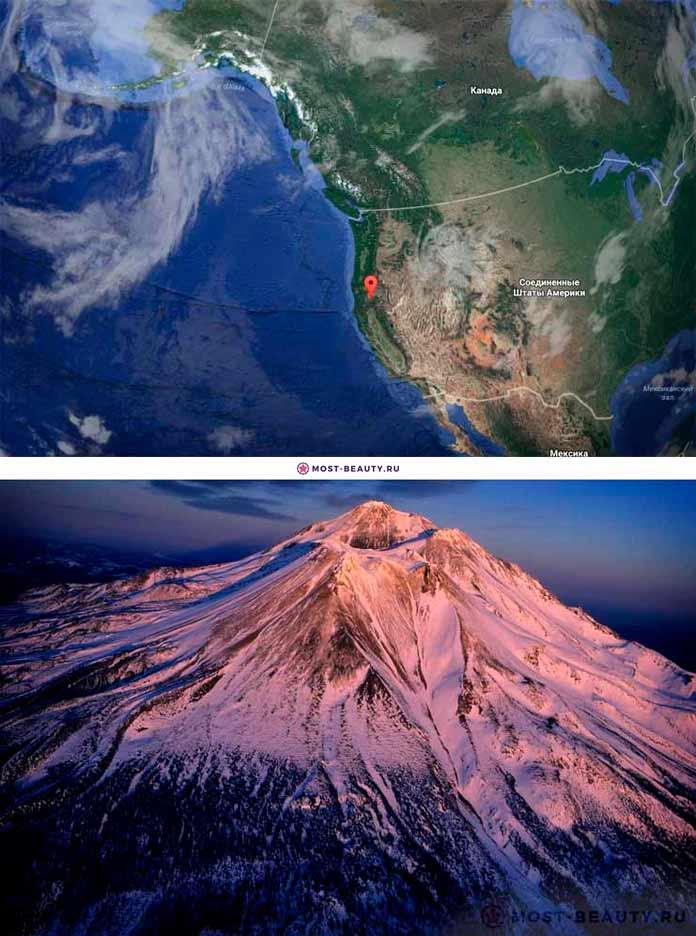Гора Шаста на карте
