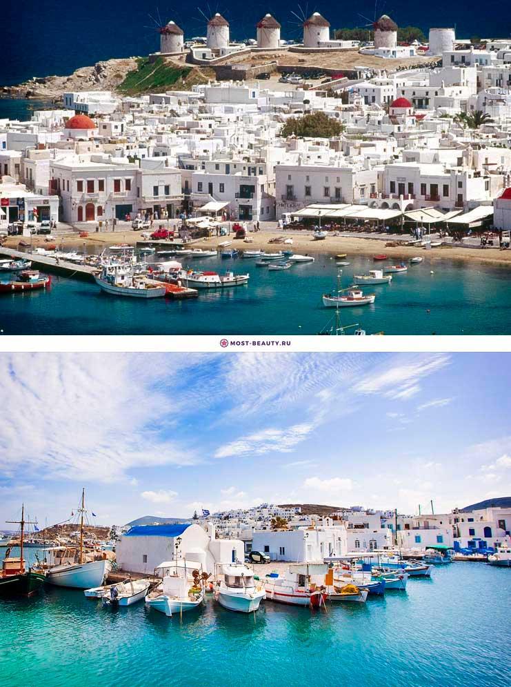 красивый остров Парос в Греции