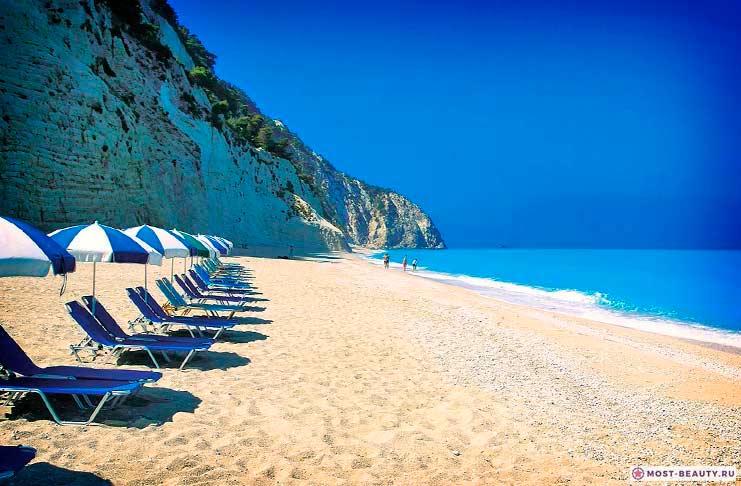 Пляж Порто Кацики на острове Lefkada