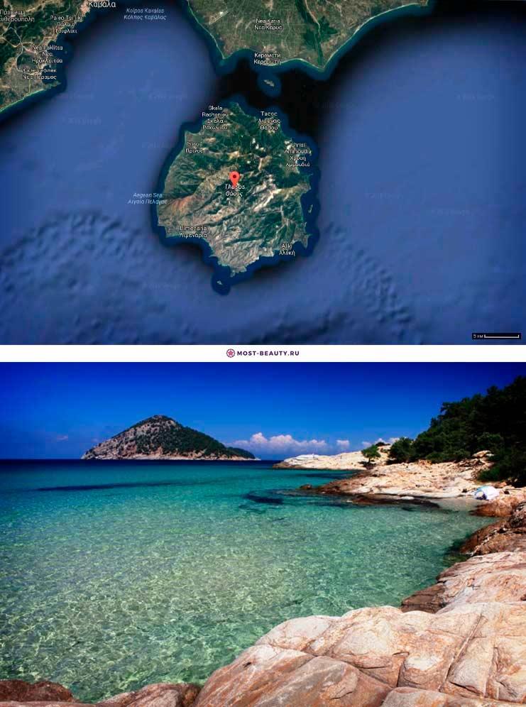 Тасос. Красивый остров Греции