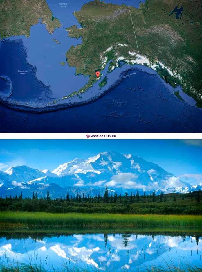 Вулкан Катмай на карте