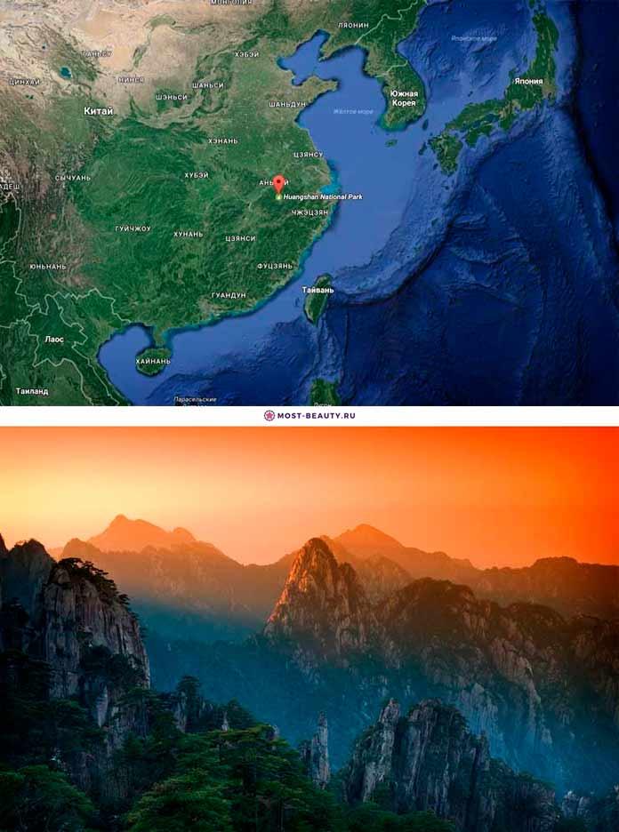 Хуаншань на карте