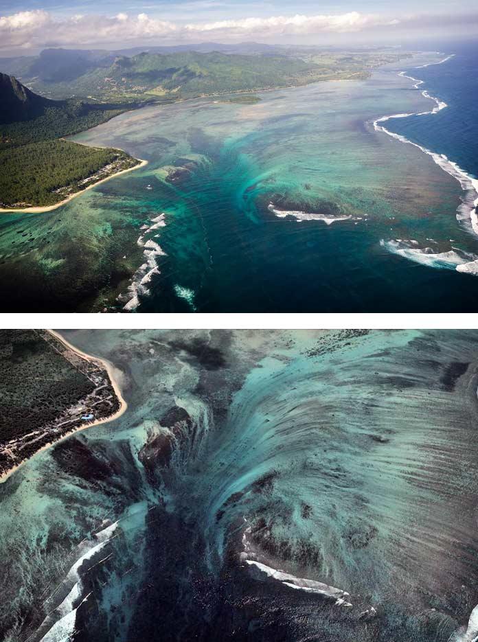 подводный водопад