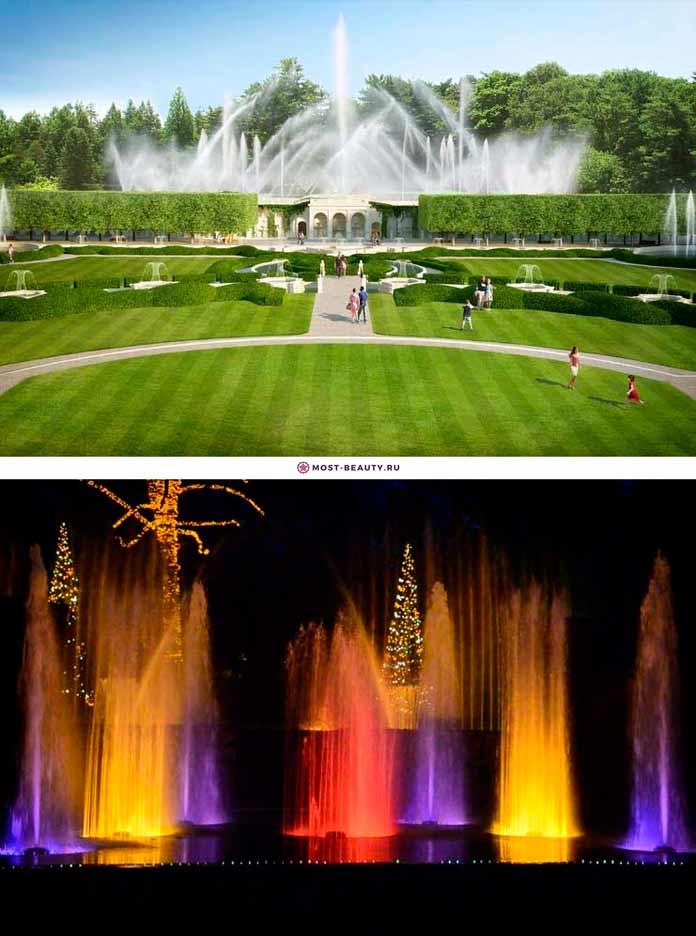 Фонтаны Longwood Gardens