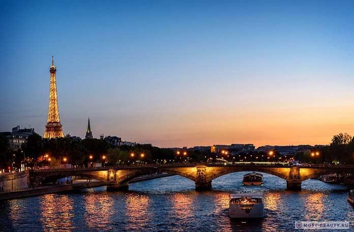 Париж, красивый и романтический