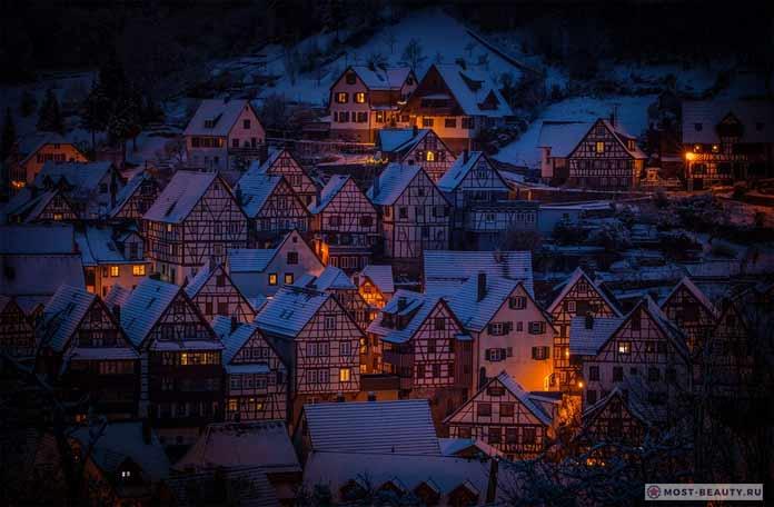 Очень красивая деревня fachwerkhäuser