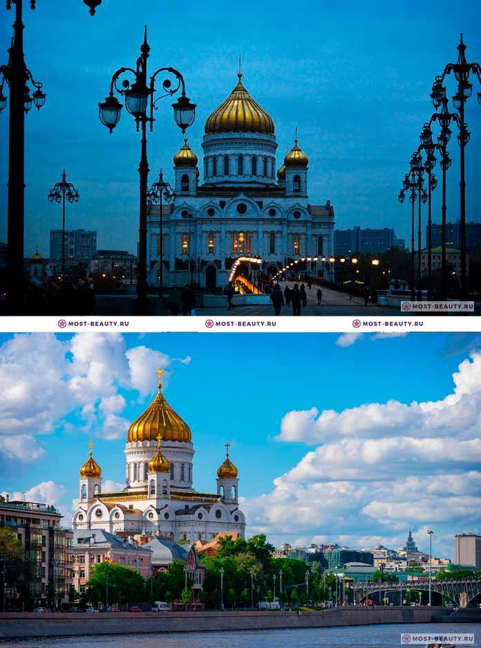 Самые красивые места Москвы: Храм Христа Спасителя. CC0