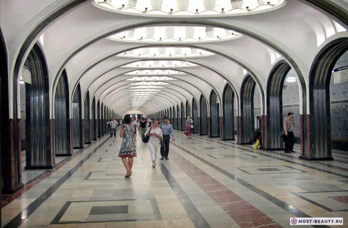 Самые красивые места Москвы: Станция Маяковского