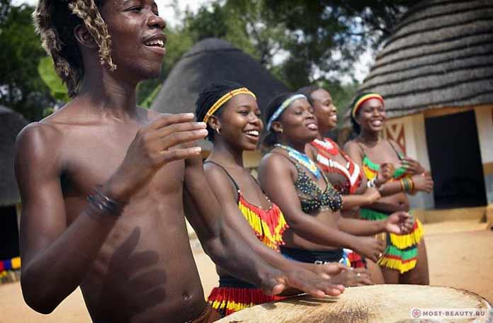 Традиционная деревня в ЮАР