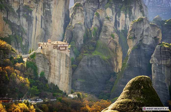Красивые места Греции. Монастыри Метеоры