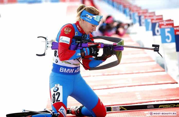 Красивые биатлонистки: Евгения Павлова