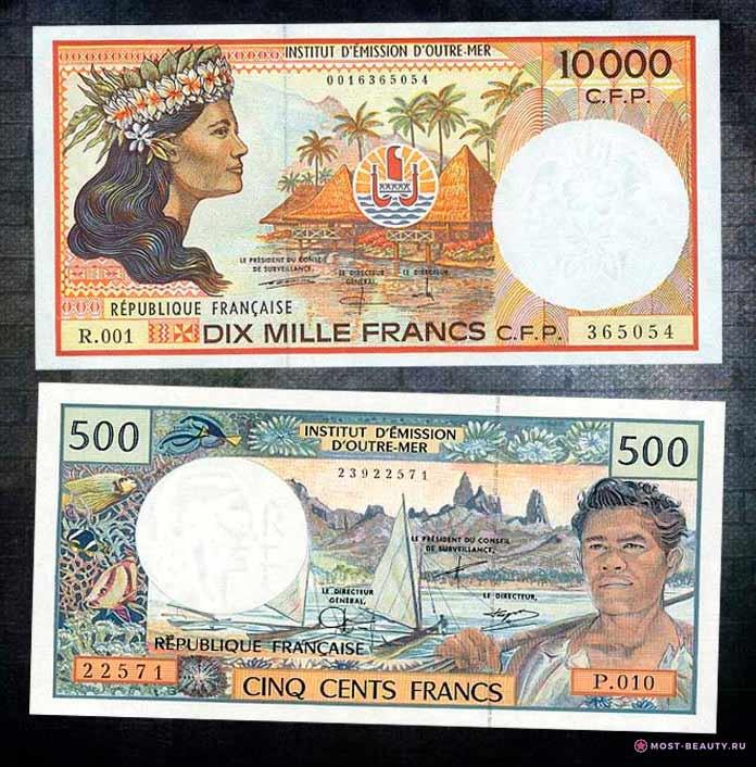 Самые красивые банкноты в мире: Франк