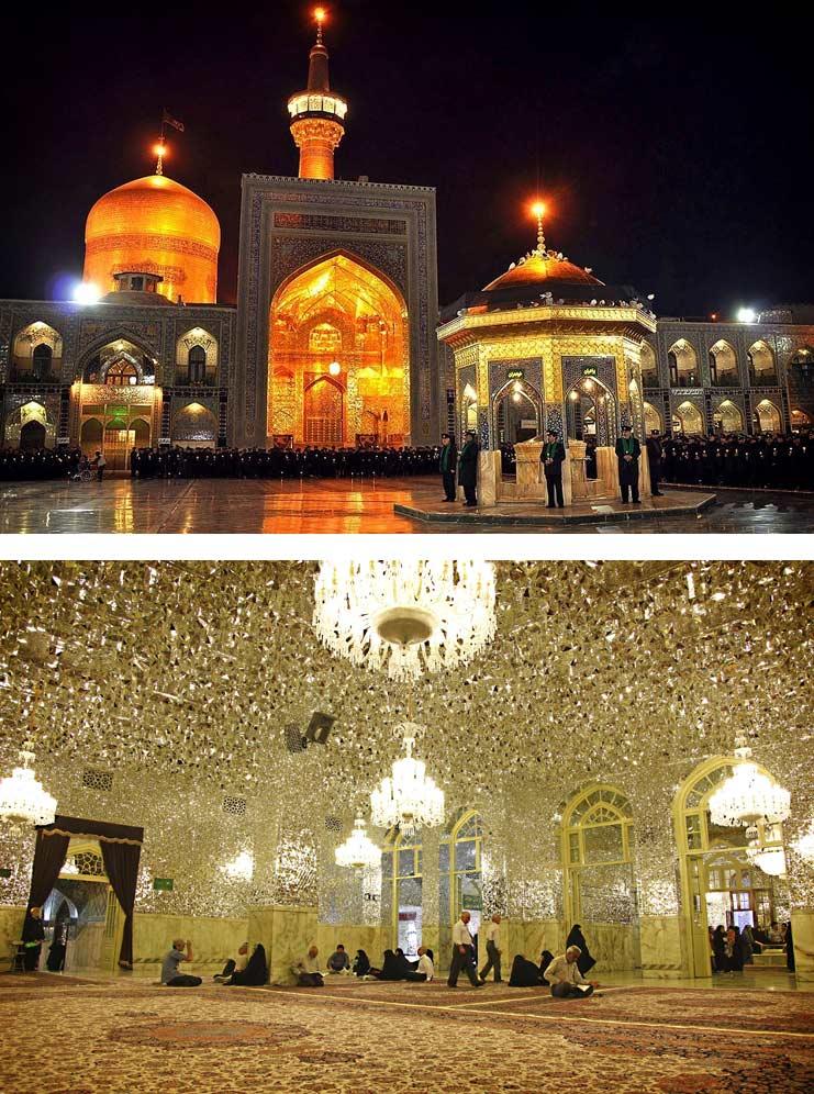 Самые красивые мечети: Мазар-имама-Резы.-Мешхед