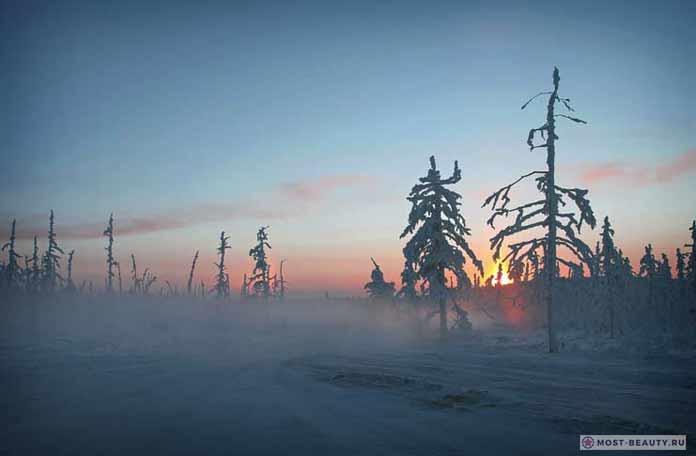 Красивые места России: Полюс холода