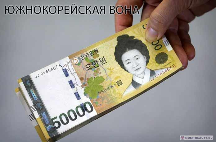 Южнокорейская вона. CC0