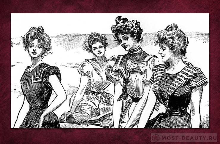 Девушки Гибсона - один из форм зараждающегося Пин Апа