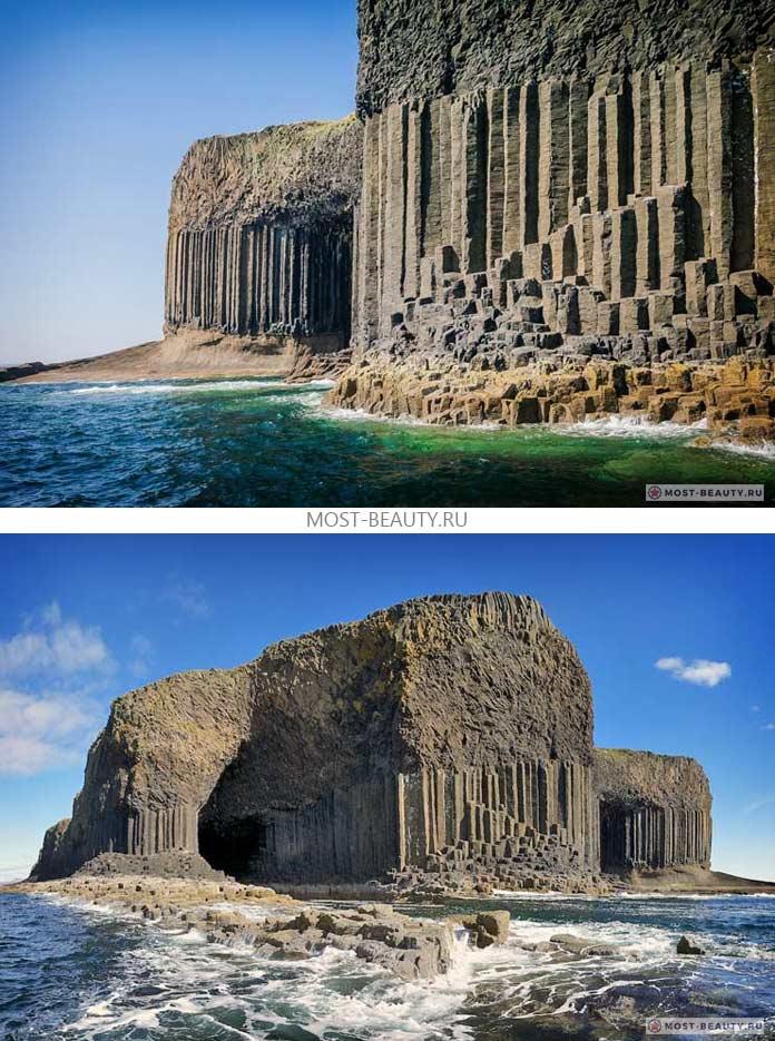 Самые красивые пещеры: Fingals. Шотландия