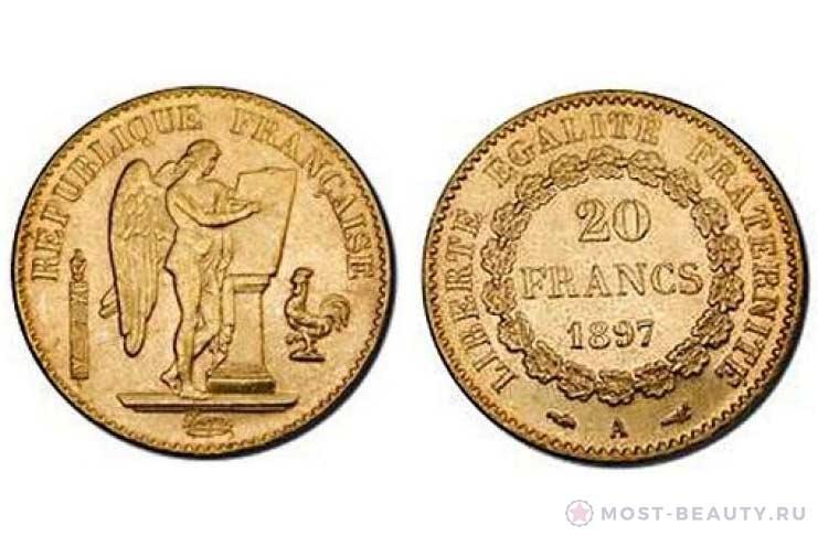 Монета «Французский ангел»