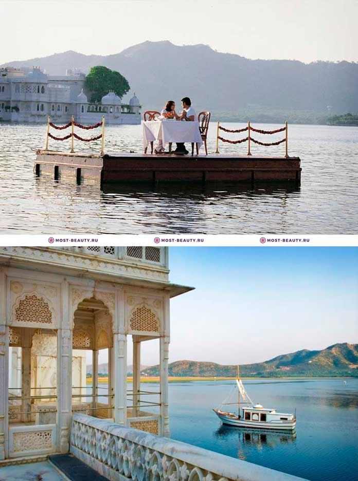 Самые красивые рестораны: taj lake palace restaurant