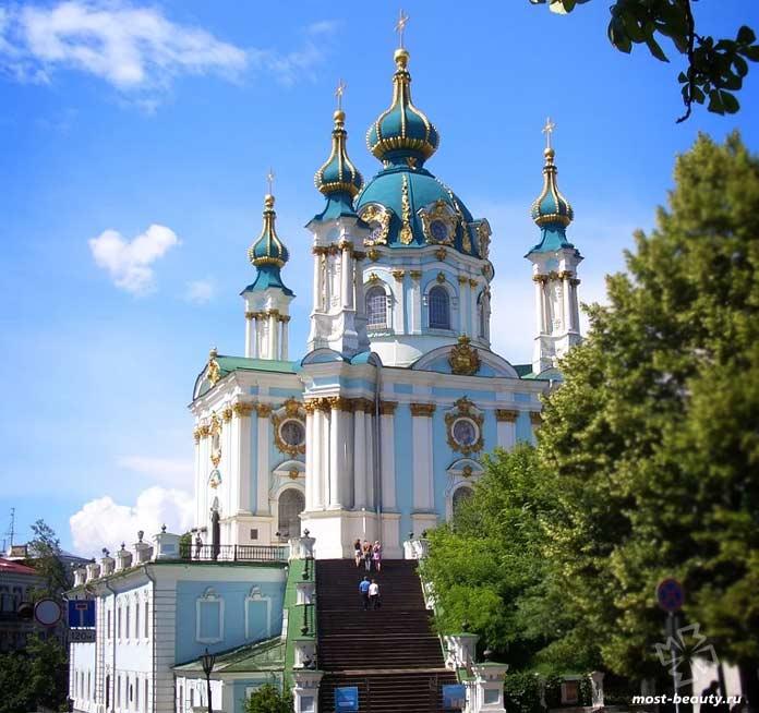 Очень красивые места Киева: Андреевская церковь. CC0