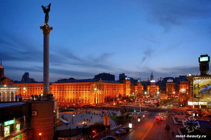 Очень красивые места Киева: Майдан (Площадь Независимости)