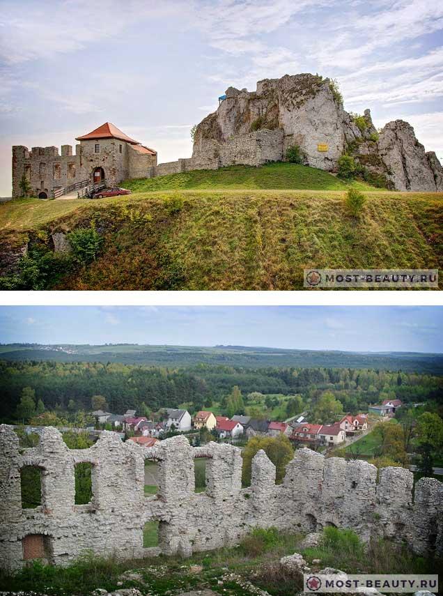 Руины замка в Рабштыне