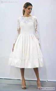 Свад.платье с кружевами
