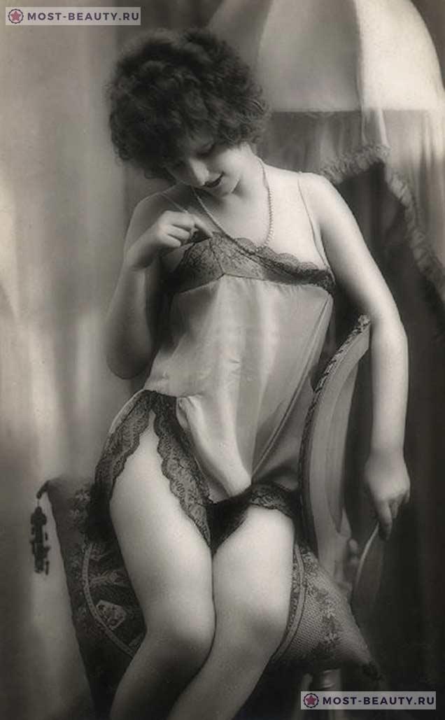 Неизвестная девушка, позурующая для открытки