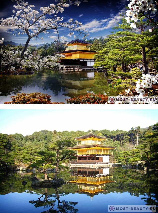 Золотой павильон Кинкаку-дзи