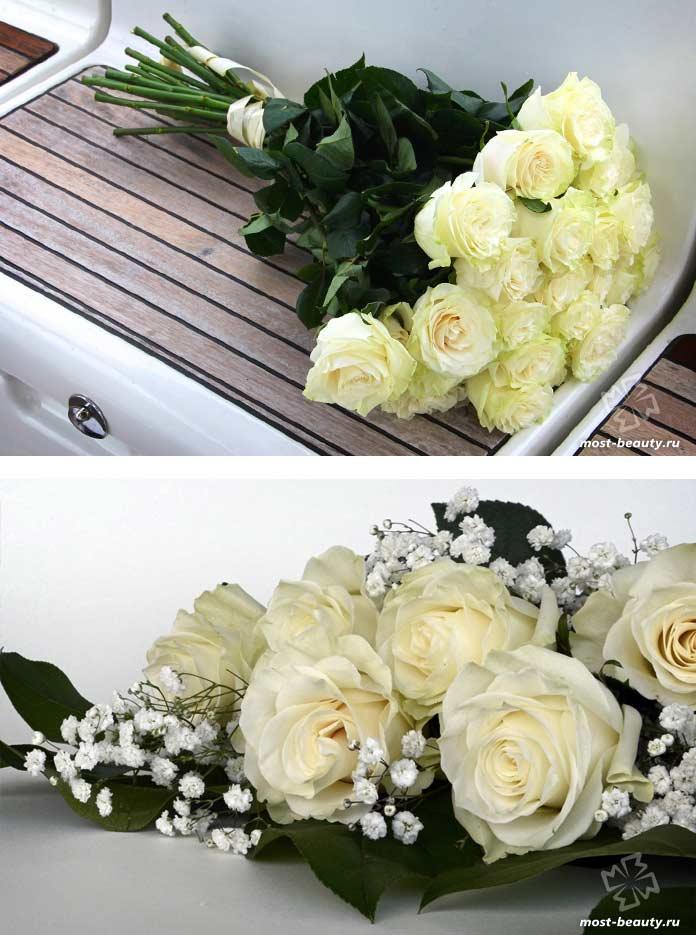 Красивые букеты цветов: Белые розы. CC0
