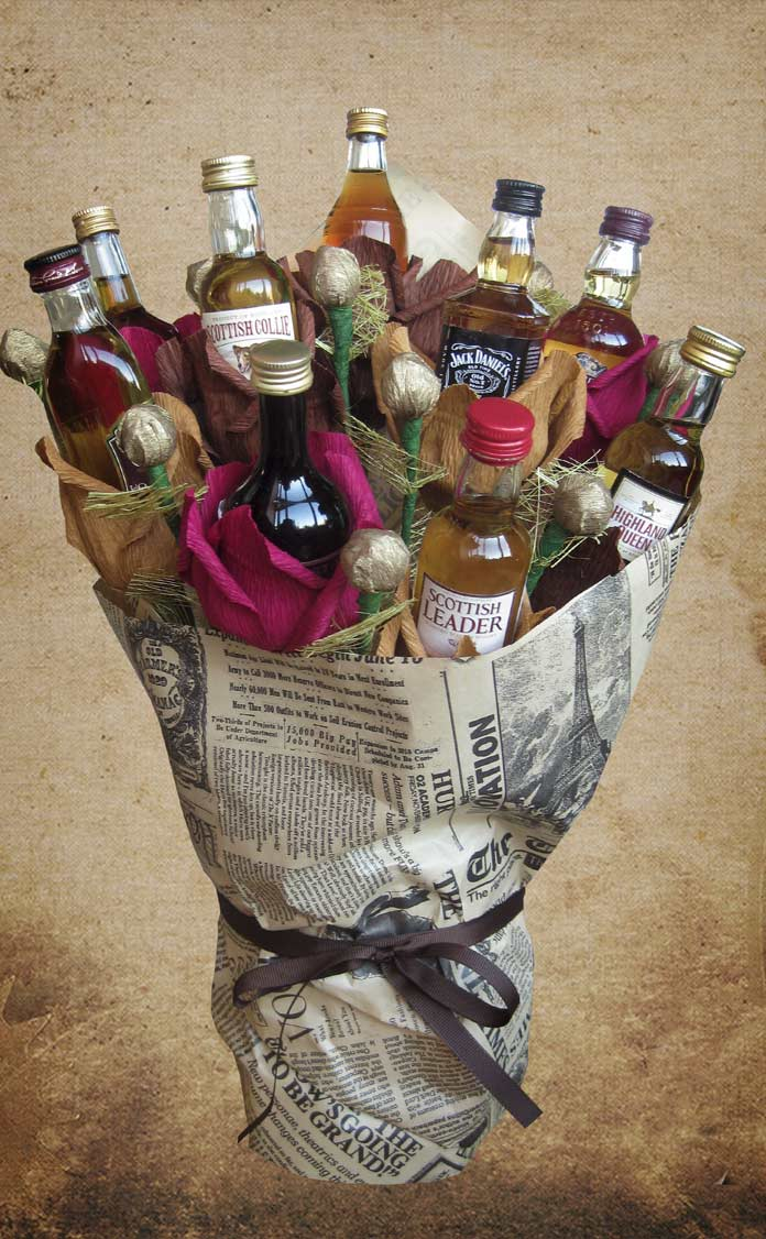 Мужские букеты с алкоголем своими руками 94