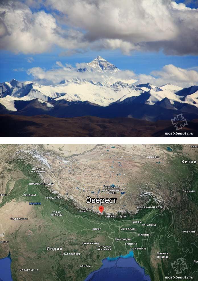 Самые высокие вершины гор: Эверест / Джомолунгма. CC0
