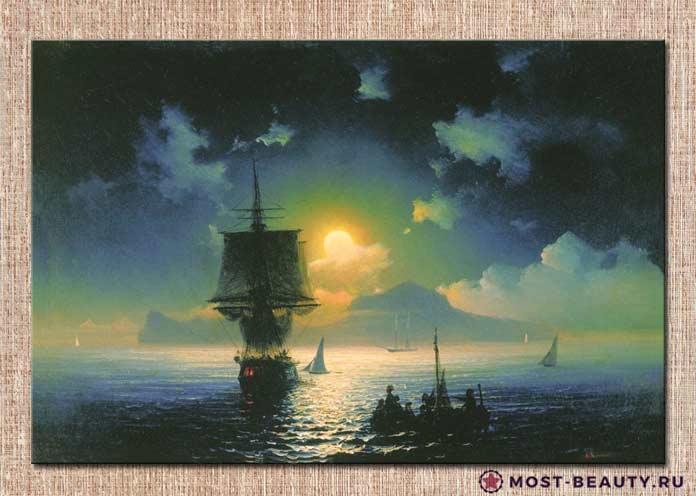 картина Айвазовского Лунная ночь на Капри