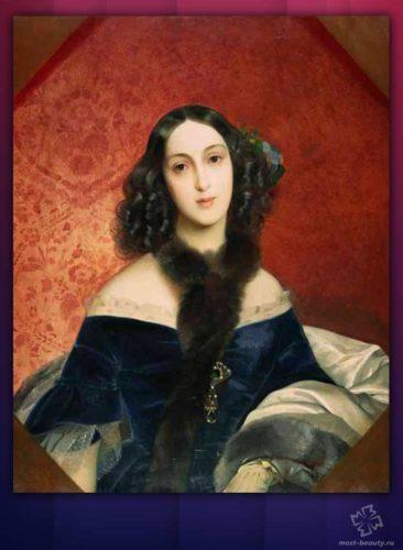 Портрет М. А. Бек, 1840 г.