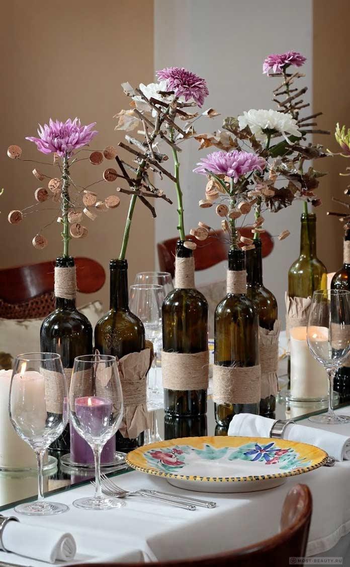 Хризантемы, как украшение праздничного стола