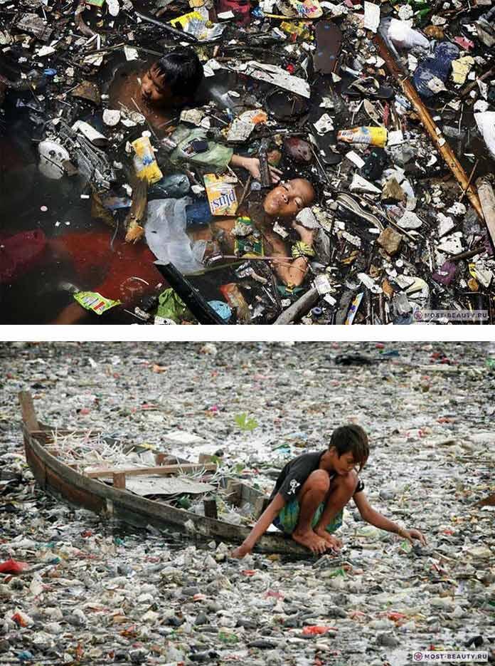 Река Циратум (Citarum RiverCitarum River) самая грязная в мире