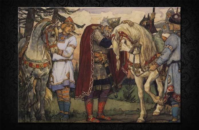 Прощание Олега с конем васнецов