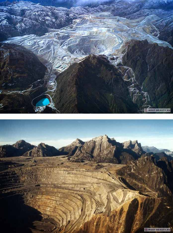Карьер Грасберг / Grasberg Mine Indonesia