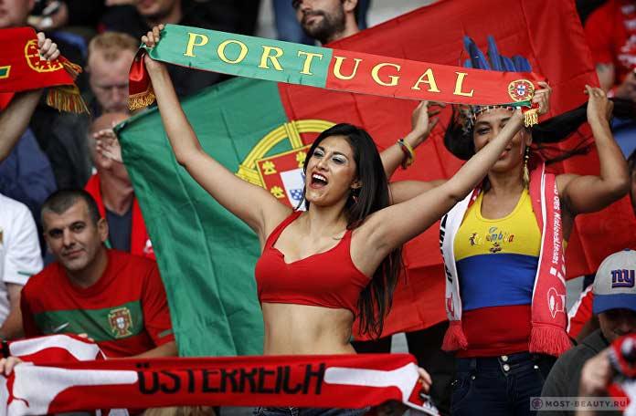 Красивая Болельщица португальской команды