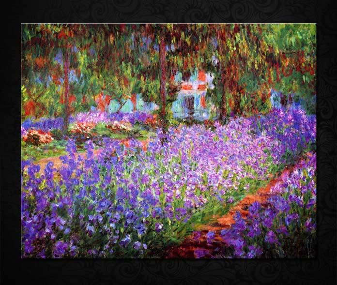 Ирисы в саду Моне