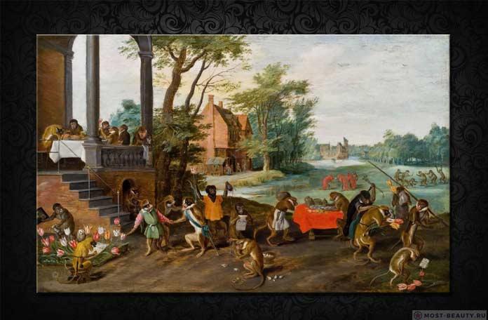 Ян Брейгель Младший – «Сатира на тюльпаноманию»