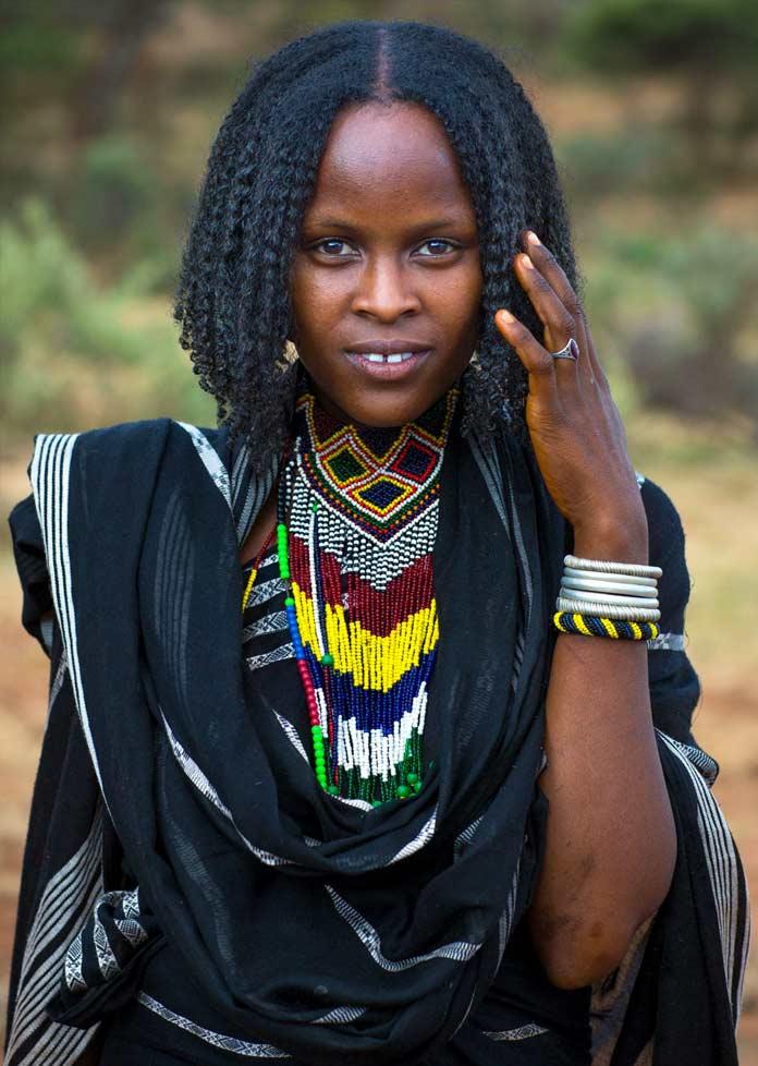 Красивая эфиопка