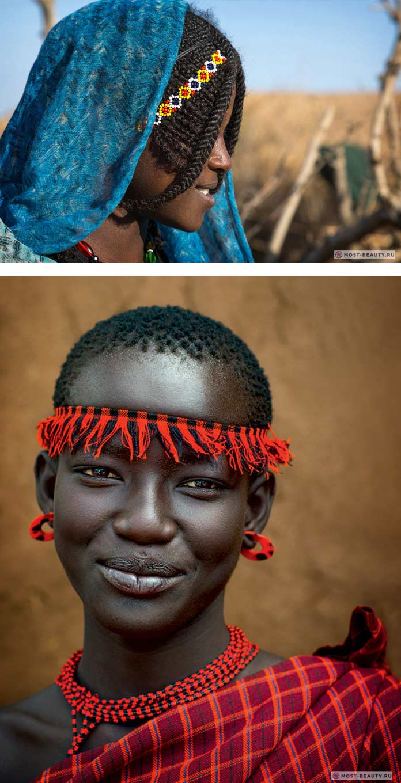 Девушки из племен эфиопии