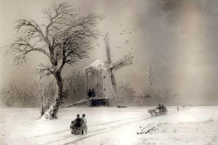 Знаменитые картины Айвазовского: Мельница (1874)